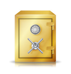 metal safe realistic combination lock vector image