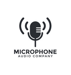 microphone icon graphic design template vector image