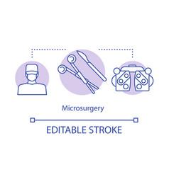 Microsurgery concept icon vector