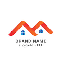 modern real estate logo design creative house vector image