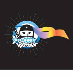 Ninja express vector