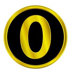 Number zero button vector
