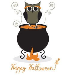 Owl and cauldron vector