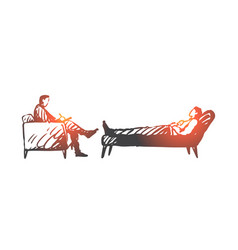 person psychologist therapy couch stress vector image