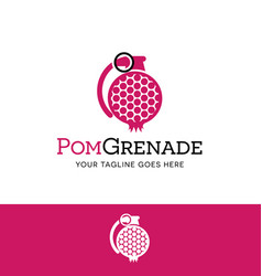 pomegranate in a grenade shape logo vector image