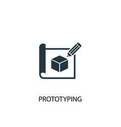 Prototyping icon simple element vector