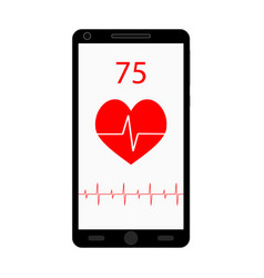 pulse on smartphone application vector image