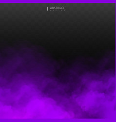 Purple fog or smoke isolated transparent special vector