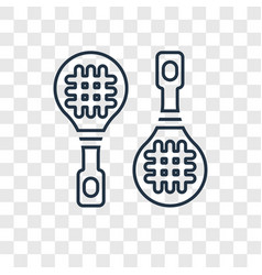 rackets concept linear icon isolated on vector image
