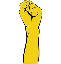 Revolt hand vector image