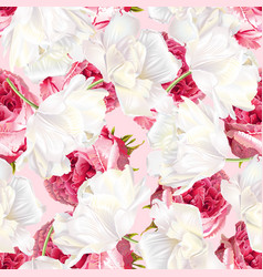 rose tulip seamless pattern vector image
