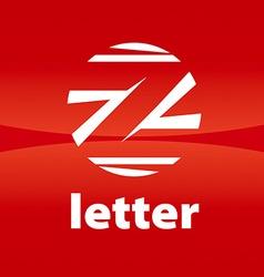 Round logo creative letter Z vector image