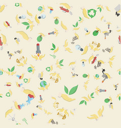 Seamless pattern flat 4 of elements for design vector