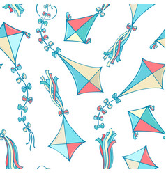 seamless pattern of kites vector image