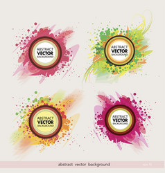 set abstract label background vector image