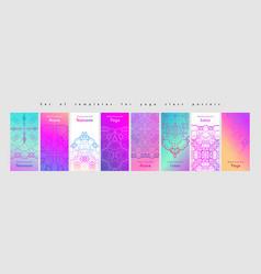 set yoga and meditation graphics vector image