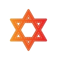 Shield Magen David Star Symbol of Israel Orange vector
