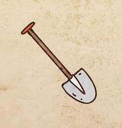 Shovel Cartoon vector image