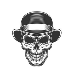 Skull in the bowler hat vector