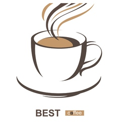 Stylized coffee cup vector