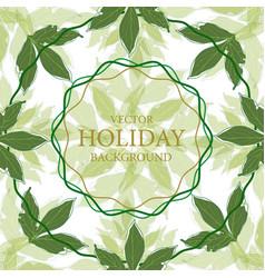 summer leaves celebratory background background vector image