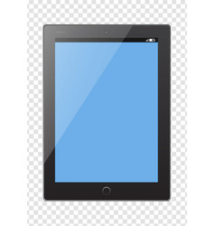 tablet pc electronic device template on vector image