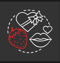 Third date chalk concept icon vector