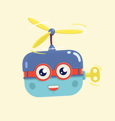Toy helicopter character vector