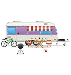 Trailer caravan 04 vector