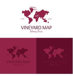vineyard map logo and icon vector image