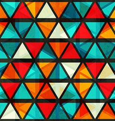 vintage bright triangle seamless pattern with vector image