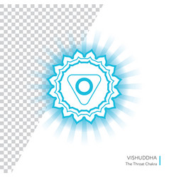 vishuddha - energy center chakra vector image