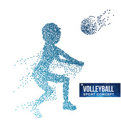 volleyball player silhouette grunge vector image