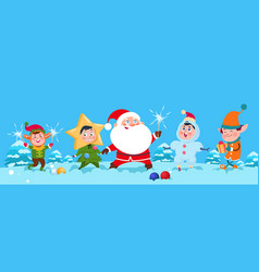 winter background christmas santa vector image