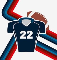 american football design vector image