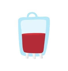 Blood bag cartoon icon vector image
