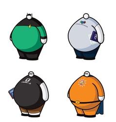 fat nerds vector image