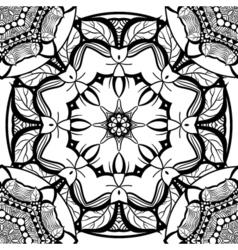 Hand-drawn mehendi ornamental seamless pattern vector image