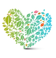 Heart Shaped Leaves - Abstract Nature Ecology vector image