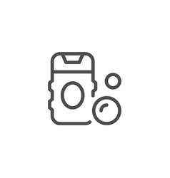 shower gel line icon vector image