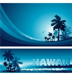 Abstract tropical background vector image