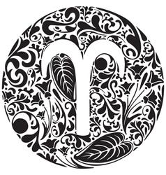 Aries zodiac sign vector image vector image