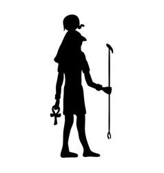 god ra horus egypt egyptian silhouette ancient vector image