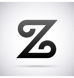 logo for letter Z Design template vector image vector image