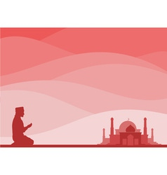 muslim praying vector image