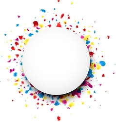 Round background with drops vector image vector image
