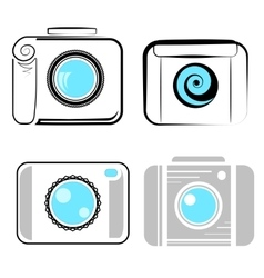 Set of Digital Camera Icons vector image