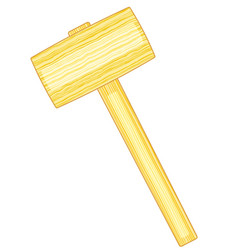 Carvers mallet icon vector