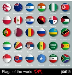 Flags of all countries vector