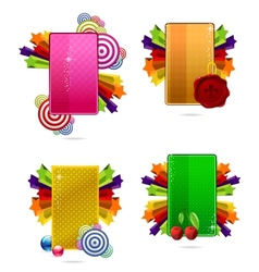 glass colored creative cards set vector image vector image